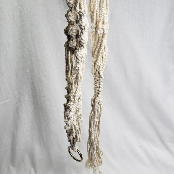 Natural Cotton Macrame Hanging Plant  Holder